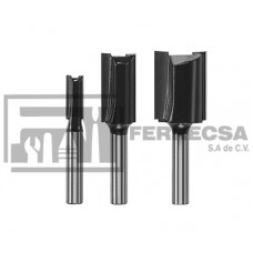 BROCAS P/ROUTER RECTAS 1/4-1/2-3/4 SKIL 3 PZA 2610947555
