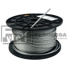 CABLE DE ACERO 1/4 ROLLO 75 MTS. 213505