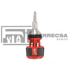 DESARMADOR MATRACA COMPACTO 8EN1 MILWAUKEE 48-22-2320*