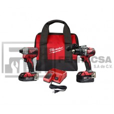 COMBO ROTOMAR-LLAVE IMPAC M18 BRUSHLESS 2893-22CX MILWAUKEE*